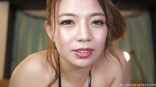 Video of prex Oda Mako giving a titjob to her horny costs