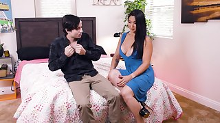 Young buck bedazzled away from busty Asian Nyomi Star's willingness