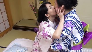Chubby Japanese mature enjoys getting licked away from her rout friend
