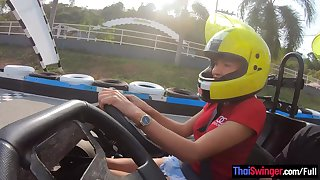 Obese fake tits second-rate Thai teen go karting and lovemaking less her old hat modern