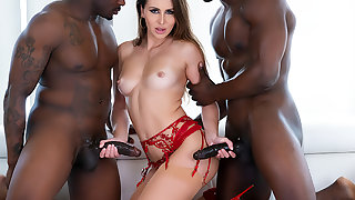 Paige Owens: DP 3-Way, Gaping, Squirt!