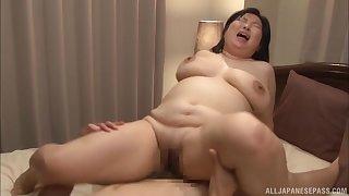 Chubby Japanese wife Yuuko Ishibashi enjoys getting fucked good