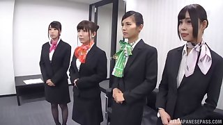 Great orgy with a bunch of dick craving Japanese office workers