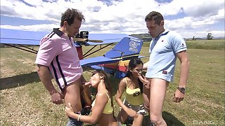 outdoor foursome is unforgettable experience for lovely asian Priva