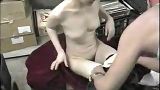 Slutty Korean bitch sucks a couple of dicks in a regular bar basement