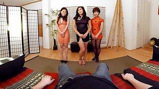 Three hot asian girls pleasureing your dick
