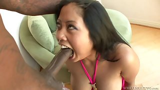 Kya Tropic adores man juice in her mouth during a wild blowjob