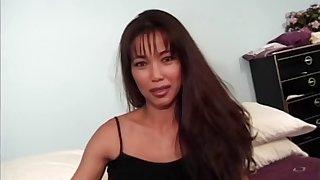 Fake tits Asian model enjoying toy in couple hardcore porn