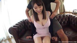 Takarada Monami screams from pleasure while her side fucks her