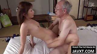 Exciting Asian Young Babe Had Sex by Grandpa - superannuated and 18yo schoolgirl