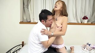 Mature Japanese tries nephew of a few rounds of sex